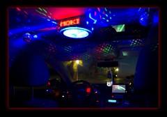 Disco Taxi interior